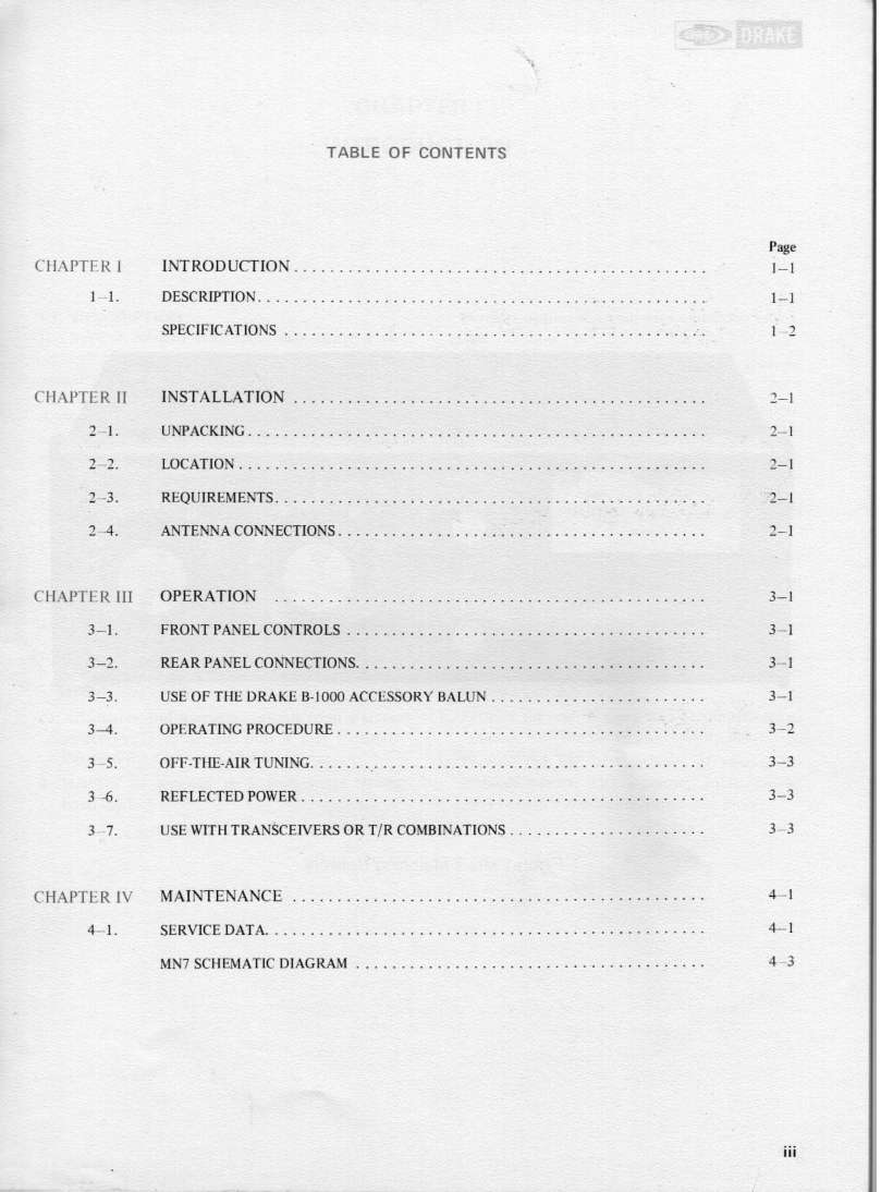 Manual Index